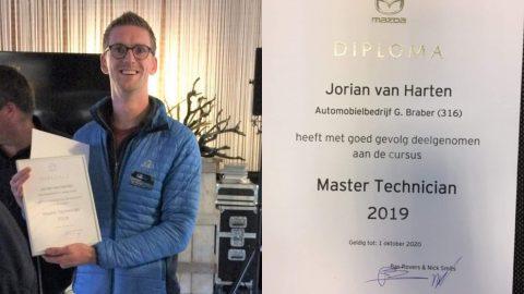 Afbeelding voor Jorian benoemd tot 'Master Technican 2019'